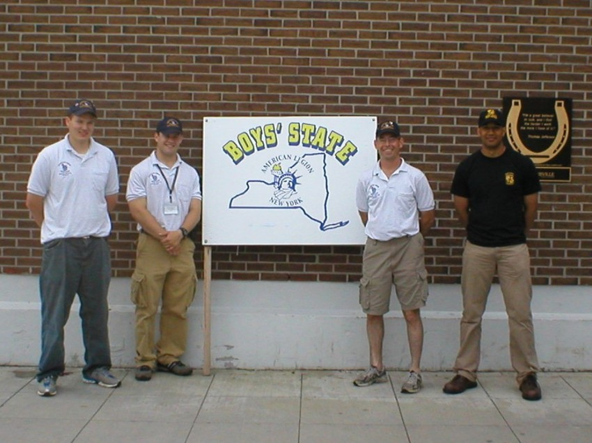 My second year at Boy's State.  I was a city counselor and I brought three of the Clarkson Army ROTC cadets to serve as junior counselors.